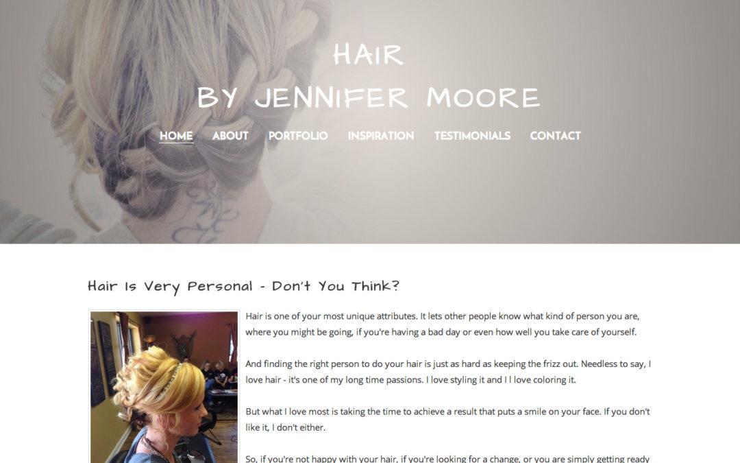 Weebly Design & Setup for Hairstylist Jennifer Moore