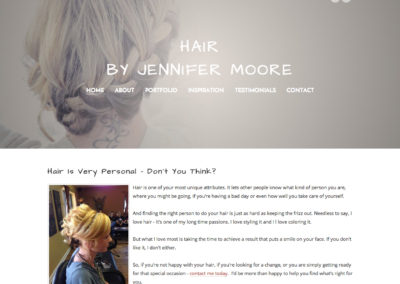Weebly Design & Setup for Hairstylist Jennifer Moore