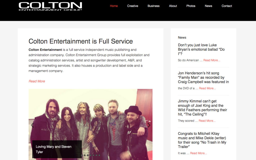 Content Management for Colton Ent